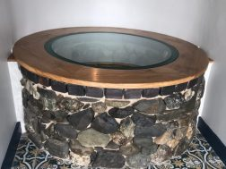 With a stone finish